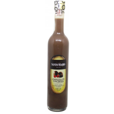 Licor de Chocolate com Cereja Santo Mario 500 ml